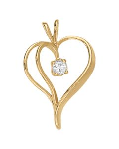 Pendants - 14K Yellow Gold - Heart - Style 30365
