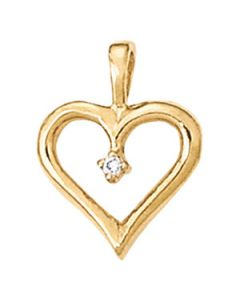 Pendants - 14K Yellow Gold - Heart - Style 30385