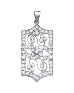 Pendants - 14K White Gold - Fashion - Style 31016