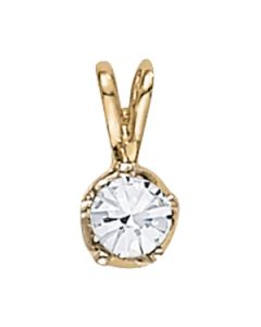 Pendants - 14K Yellow Gold - Solitaires - Style 31285
