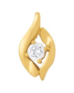 Pendants - 14K Yellow Gold - Solitaires - Style 31395
