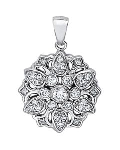 Pendants - 14K White Gold - Fashion - Style 31411