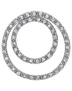 Pendants - 14K White Gold - Circle - Style 31418