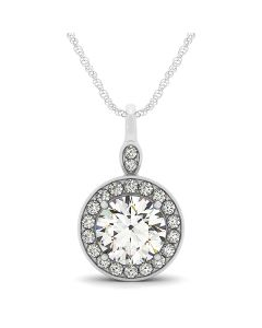 Pendants - Two Tone - Halo - Style 31788