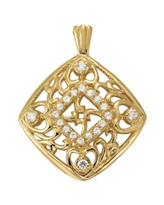 Pendants - 14K Yellow Gold - Fashion - Style 31955