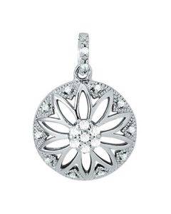 Pendants - 14K White Gold - Fashion - Style 32383