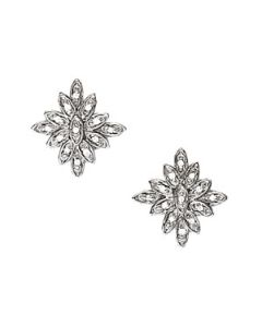 Earrings - 14K White Gold - Cluster - Style 40256