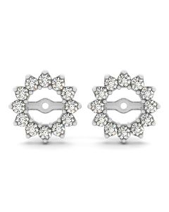 Earrings - 14K White Gold - Jackets - Style 40488