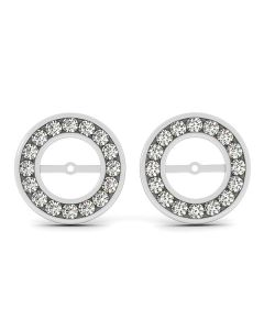 Earrings - 14K White Gold - Jackets - Style 40632