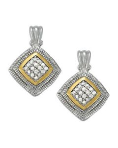 Earrings - Two Tone - Cluster - Style 40889