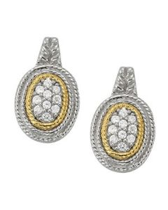 Earrings - Two Tone - Cluster - Style 40893
