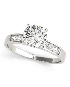 Engagement Ring - 14K Yellow Gold - Single Row - Channel Set - Style 50076-E