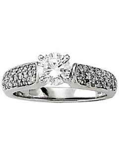 Engagement Ring - 14K White Gold - Pave - Style 50305-E