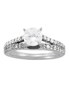 Engagement Ring - 14K White Gold - MultiRow - Style 50417-E