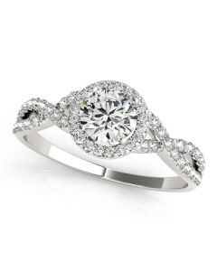 Engagement Ring - 14K White Gold - MultiRow - Style 50536-E