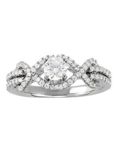 Engagement Ring - 14K White Gold - MultiRow - Style 50556-E
