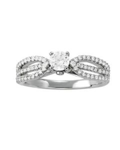 Engagement Ring - 14K White Gold - MultiRow - Style 50560-E