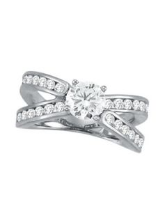 Engagement Ring - 14K White Gold - MultiRow - Style 50636-E