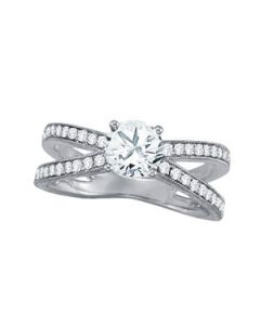 Engagement Ring - 14K White Gold - MultiRow - Style 50652-E