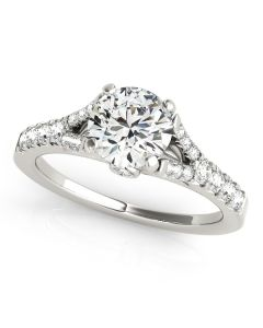 Engagement Ring - 14K White Gold - Single Row - Prong Set - MultiRow - Style 50668-E