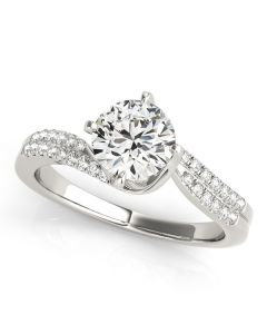 Engagement Ring - 14K White Gold - Style 50842-E