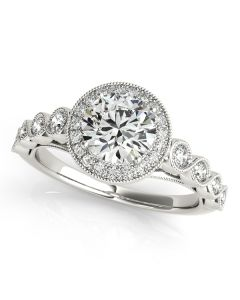 Engagement Ring - 14K White Gold - Style 50878-E