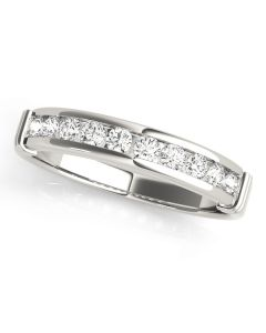 Wedding Ring - Two Tone - Channel Set - Style 81790-W