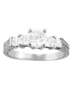 Engagement Ring - 14K White Gold - Antique - Style 82081