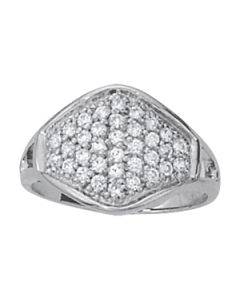 Diamond Fashion - 14K White Gold - Cluster - Style 82349