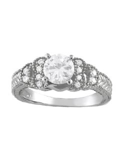 Engagement Ring - 14K White Gold - Antique - Style 82611
