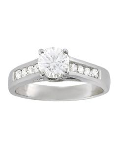 Engagement Ring - 14K White Gold - Trellis - Style 82878