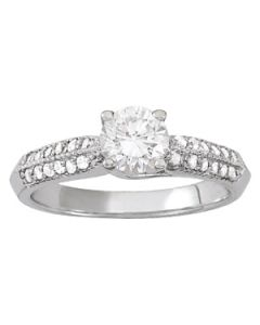 Engagement Ring - 14K White Gold - Trellis - Style 82890