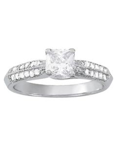 Engagement Ring - 14K White Gold - Trellis - Style 82891