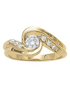 Engagement Ring - 14K Yellow Gold - Bypass - Style 83227