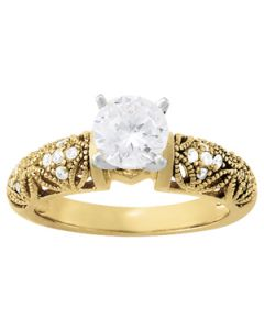 Engagement Ring - 14K Yellow Gold - Antique - Style 83359