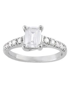 Engagement Ring - 14K White Gold - Trellis - Style 83438