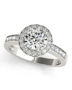 Engagement Ring - 14K Yellow Gold - Halo - Round - Style 83443