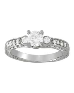 Engagement Ring - 14K White Gold - Antique - Style 83581