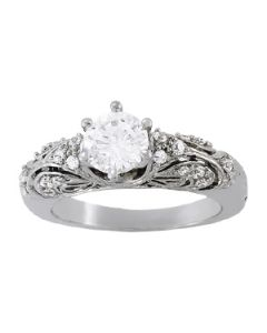 Engagement Ring - 14K White Gold - Antique - Style 83584