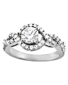 Engagement Ring - 14K White Gold - MultiRow - Style 83893