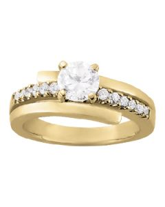 Engagement Ring - 14K Yellow Gold - Bypass - Style 83906