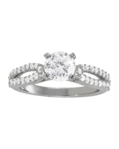 Engagement Ring - 14K White Gold - MultiRow - Style 84272