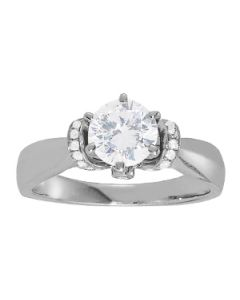 Engagement Ring - 14K White Gold - Solitaires - Round - Style 84295