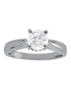 Engagement Ring - 14K White Gold - Solitaires - Round - Style 84301