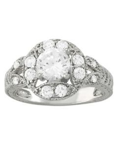 Engagement Ring - 14K White Gold - Antique - Style 84427