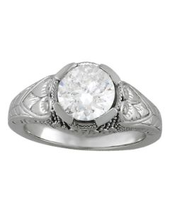 Engagement Ring - 14K White Gold - Antique - Style 84437
