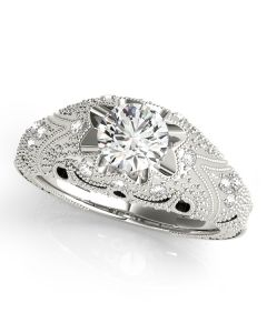Engagement Ring - 14K White Gold - Antique - Style 84514