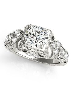 Engagement Ring - 14K White Gold - Antique - Style 84516