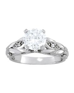Engagement Ring - 14K White Gold - Antique - Style 84532