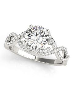 Engagement Ring - 14K White Gold - MultiRow - Style 84813